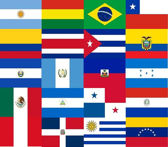 Bienvenida A La Cada Banderas De Latinoamerica